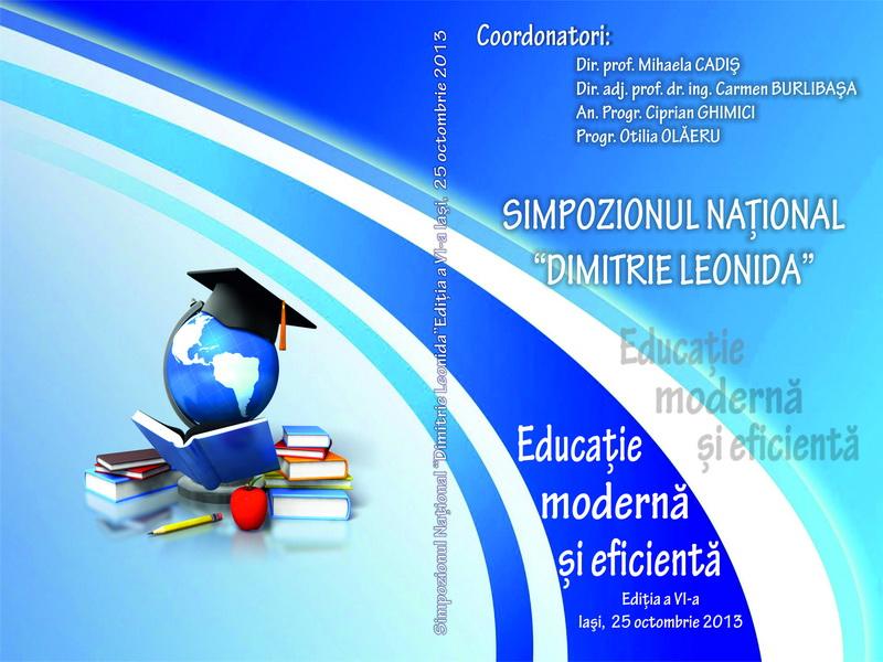 """Simpozionul National """"Dimitrie Leonida"""" Editia 2013"""